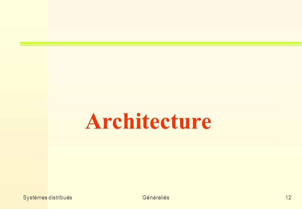 Architecture Systèmes distribués Généraliés
