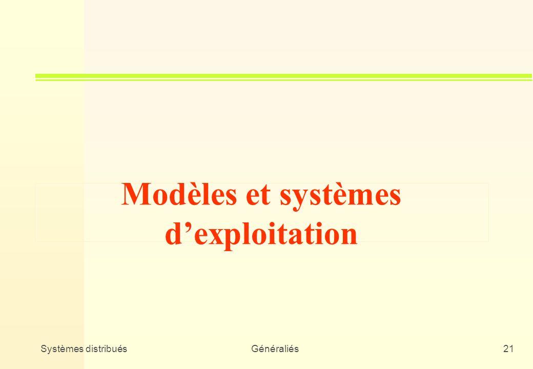 Modèles et systèmes d'exploitation