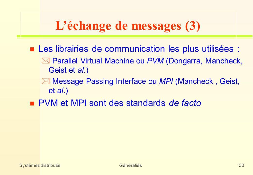 L'échange de messages (3)