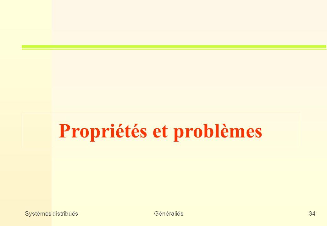 Propriétés et problèmes