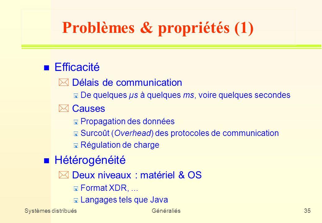 Problèmes & propriétés (1)