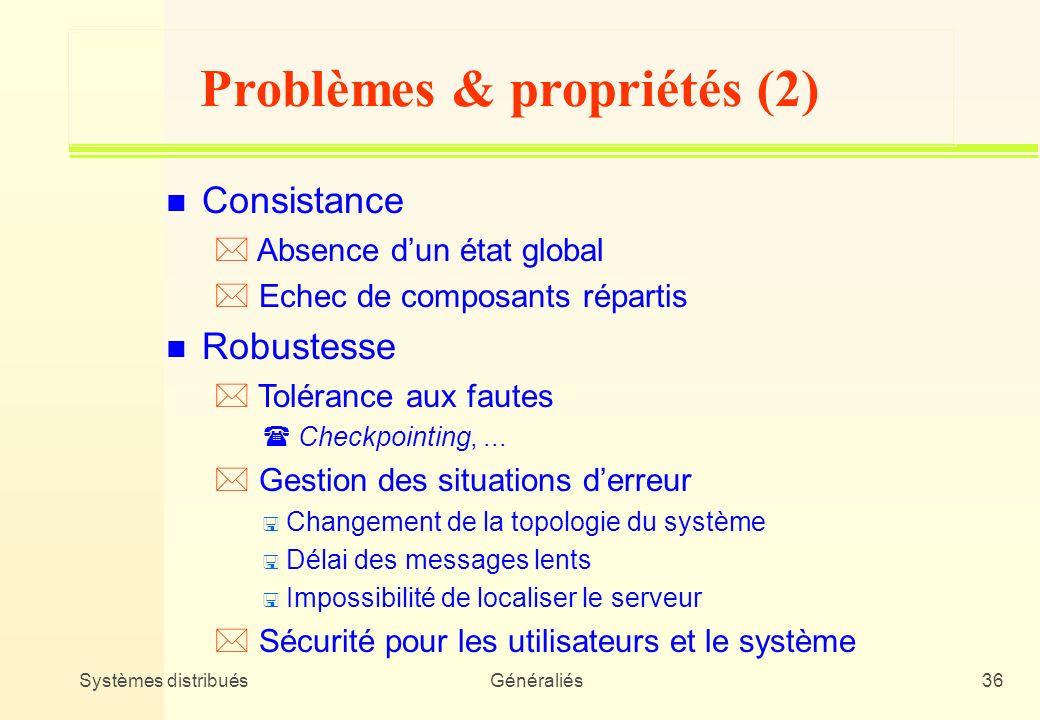 Problèmes & propriétés (2)