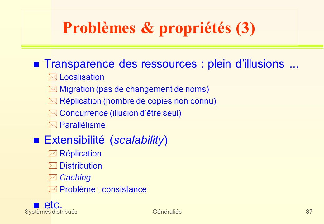 Problèmes & propriétés (3)