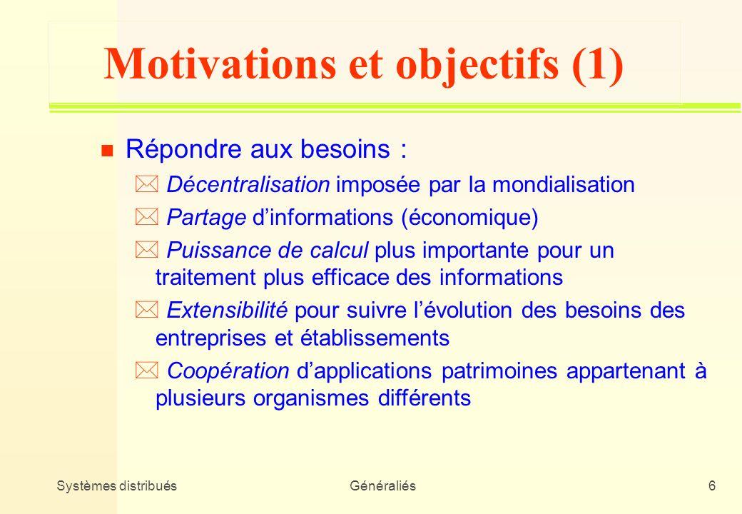 Motivations et objectifs (1)