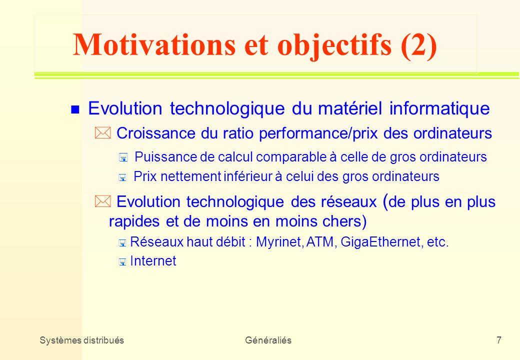 Motivations et objectifs (2)