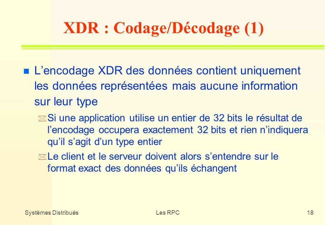 XDR : Codage/Décodage (1)