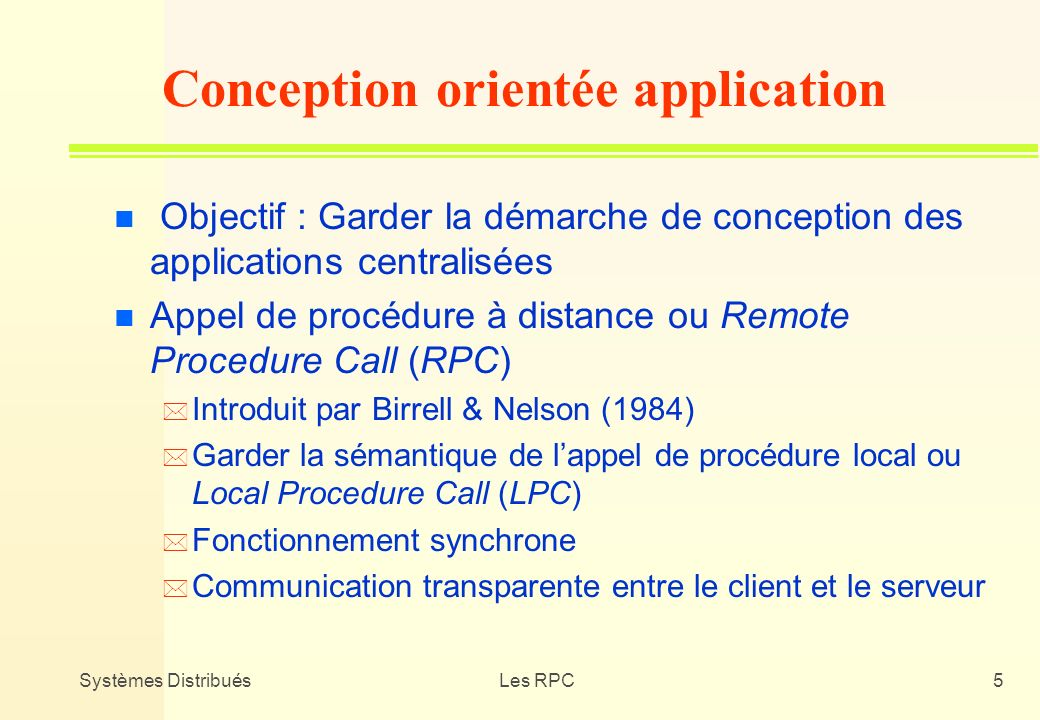 Conception orientée application