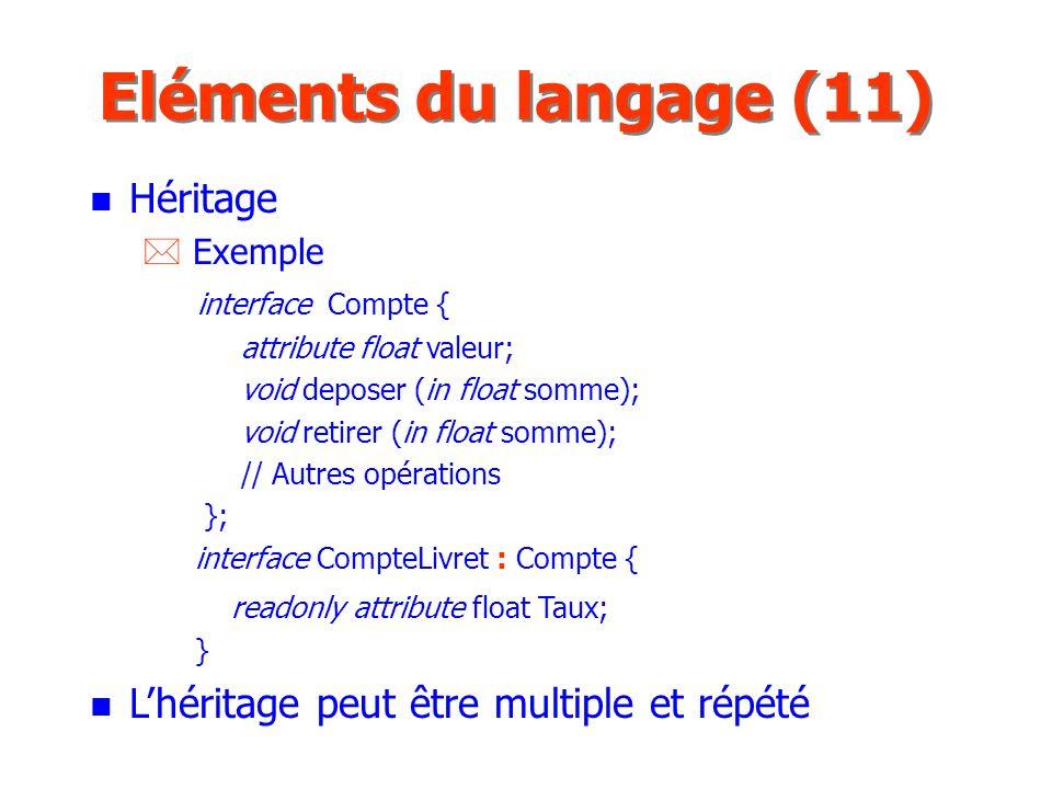 Eléments du langage (11) Héritage