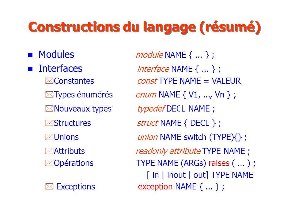 Constructions du langage (résumé)