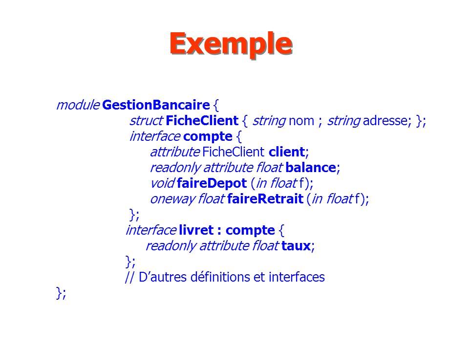 Exemple module GestionBancaire {