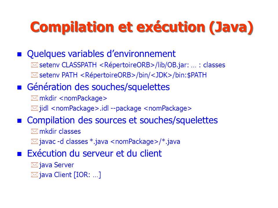 Compilation et exécution (Java)