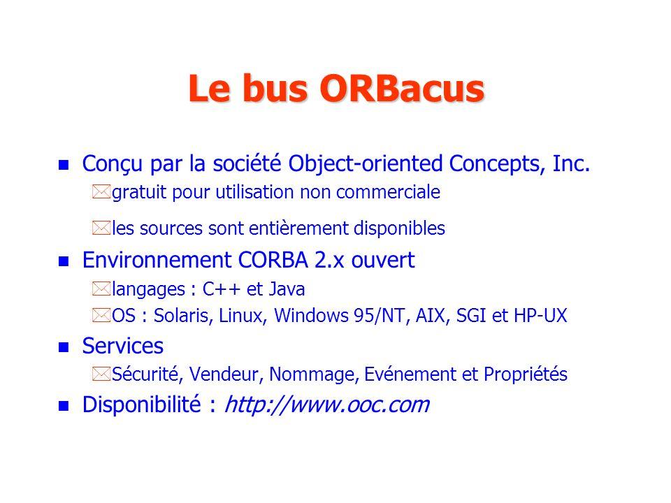 Le bus ORBacus Conçu par la société Object-oriented Concepts, Inc.