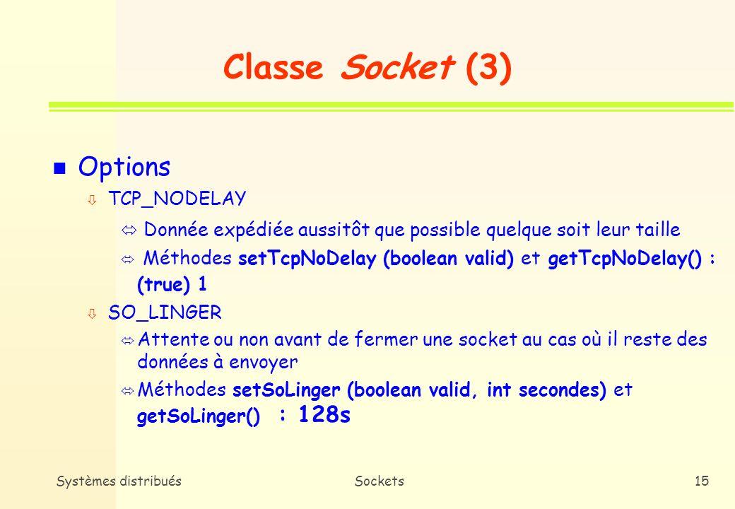 Classe Socket (3) Options