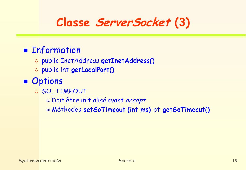 Classe ServerSocket (3)