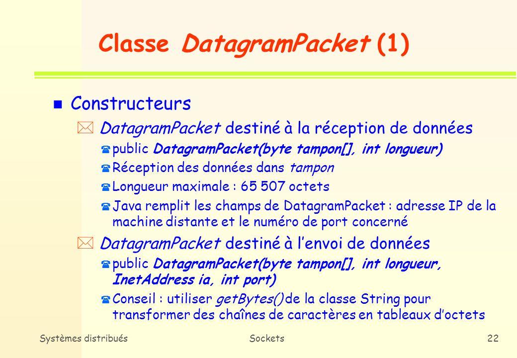 Classe DatagramPacket (1)