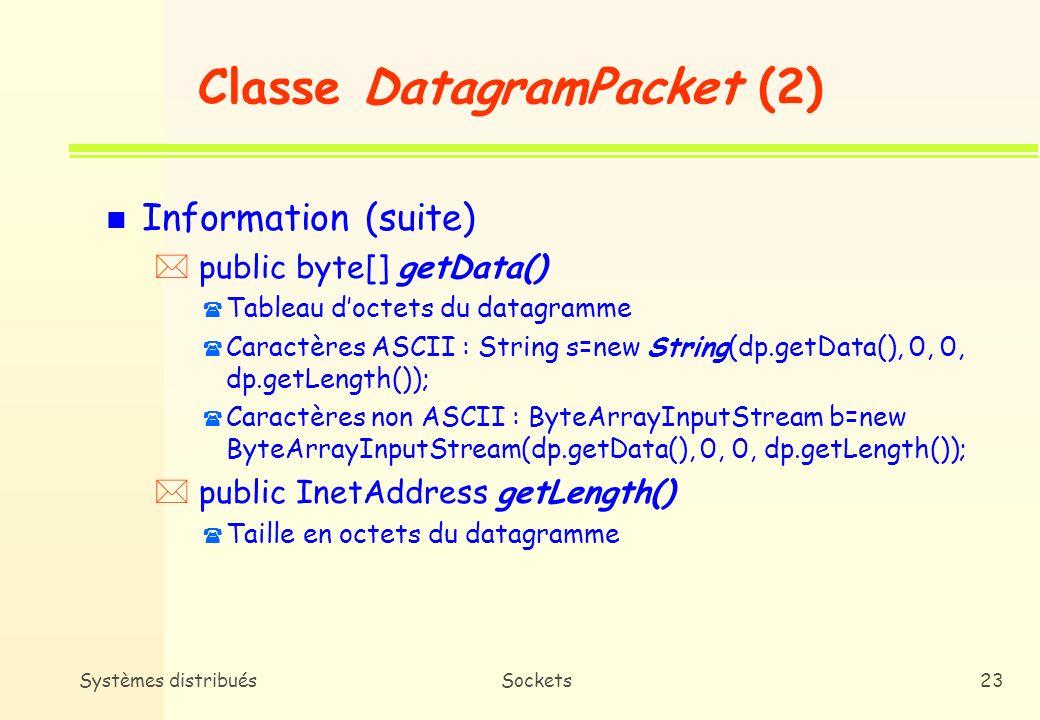 Classe DatagramPacket (2)