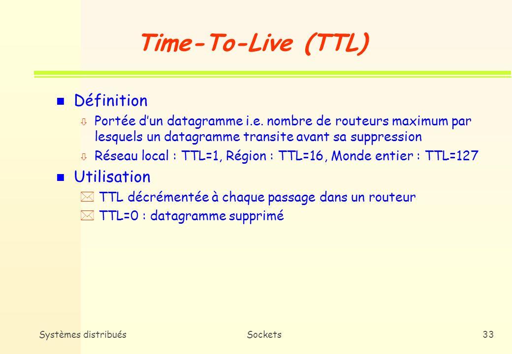 Time-To-Live (TTL) Définition Utilisation