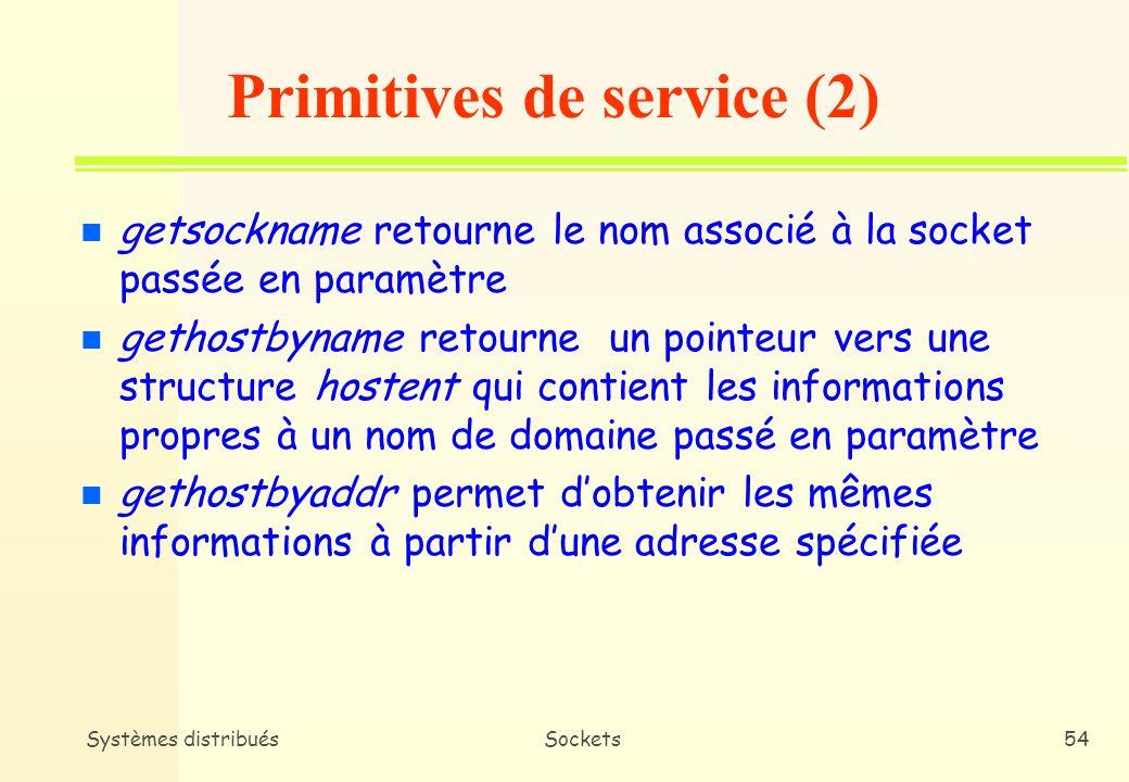 Primitives de service (2)