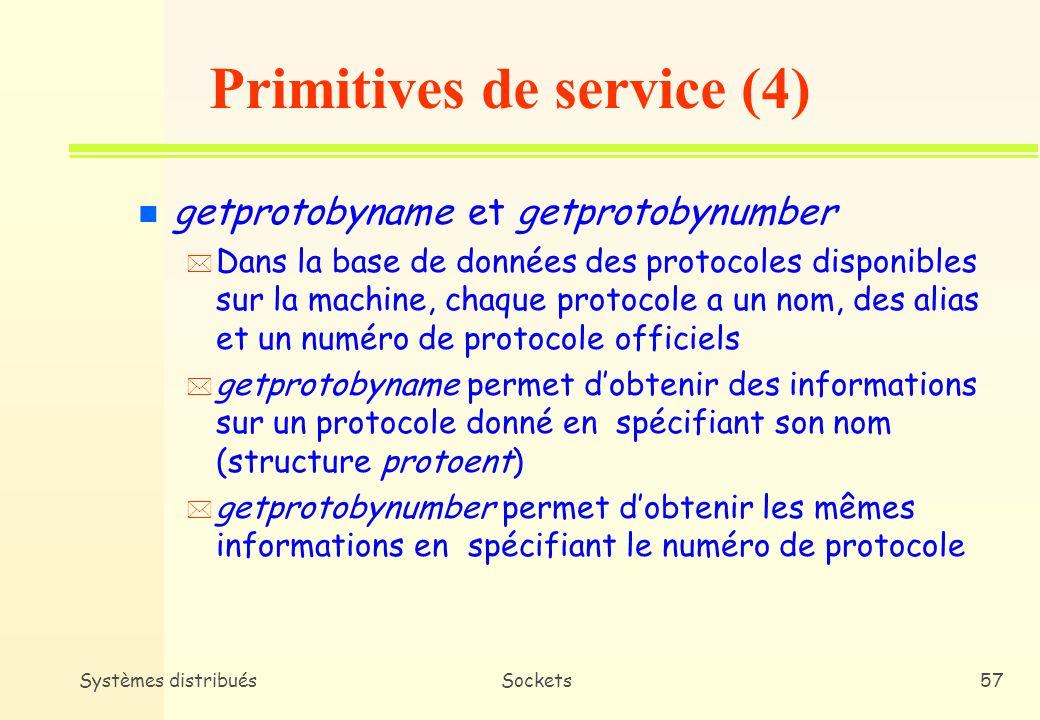 Primitives de service (4)