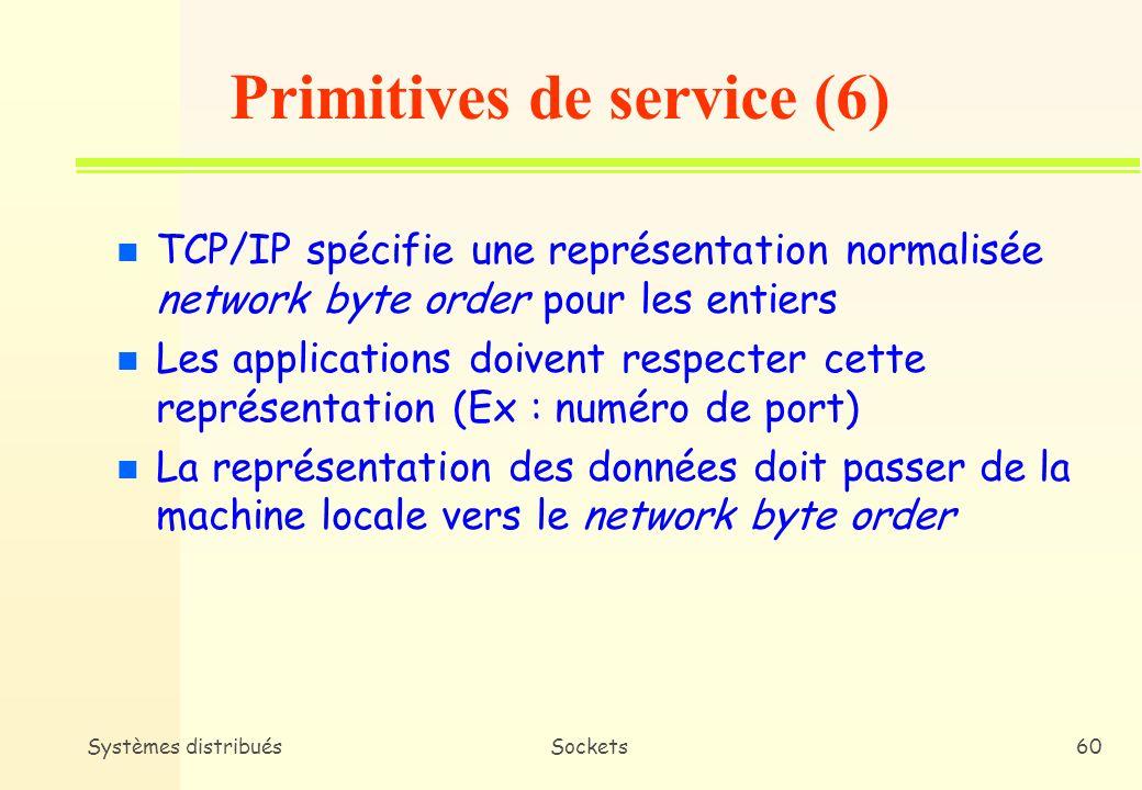 Primitives de service (6)