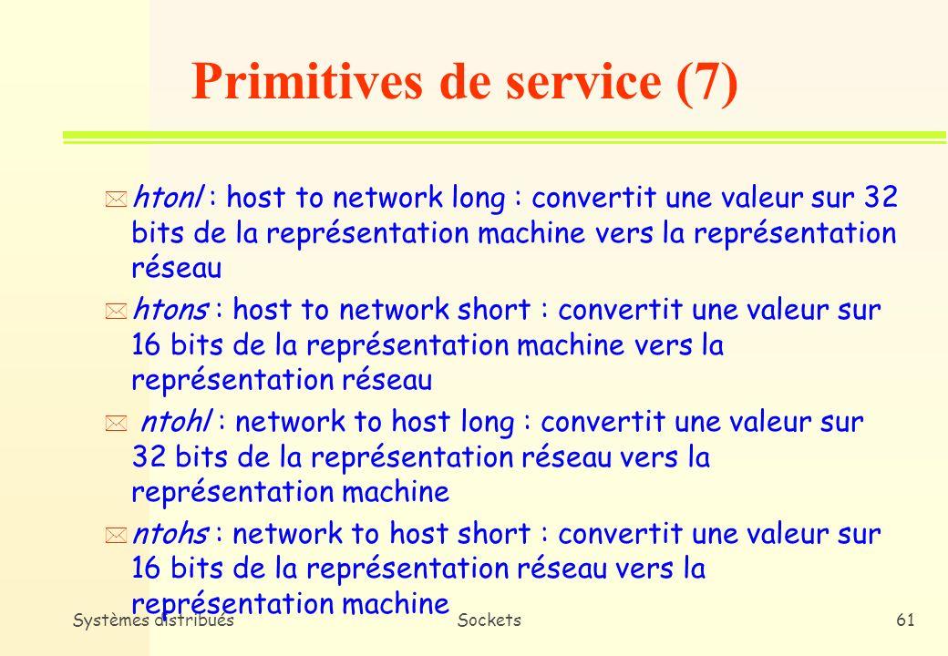 Primitives de service (7)