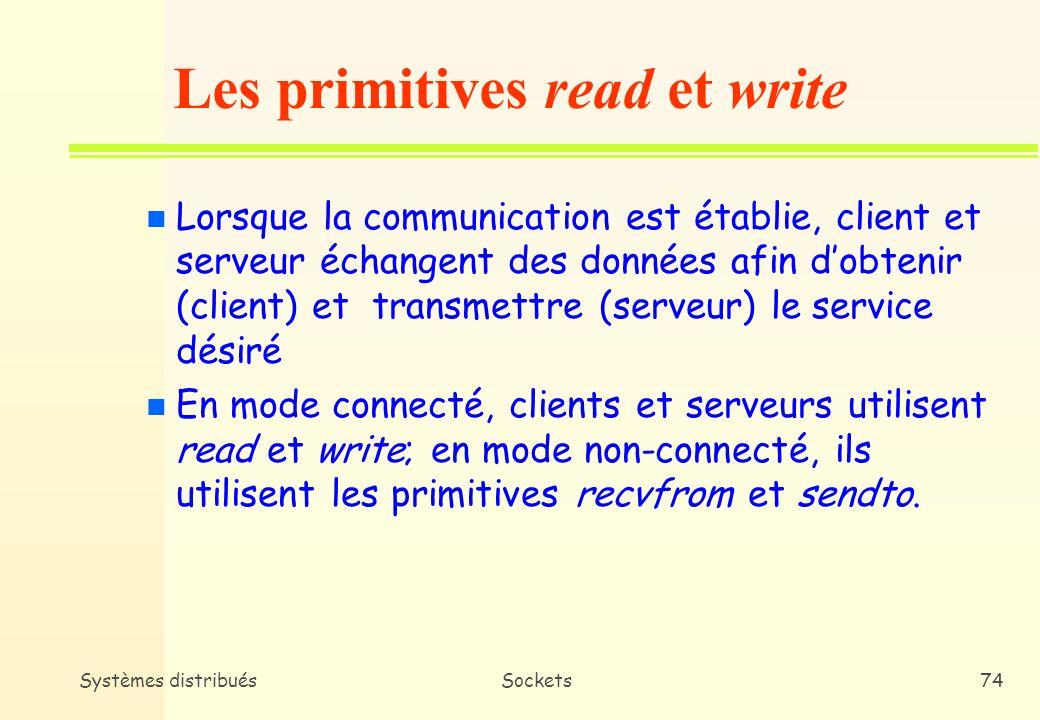 Les primitives read et write