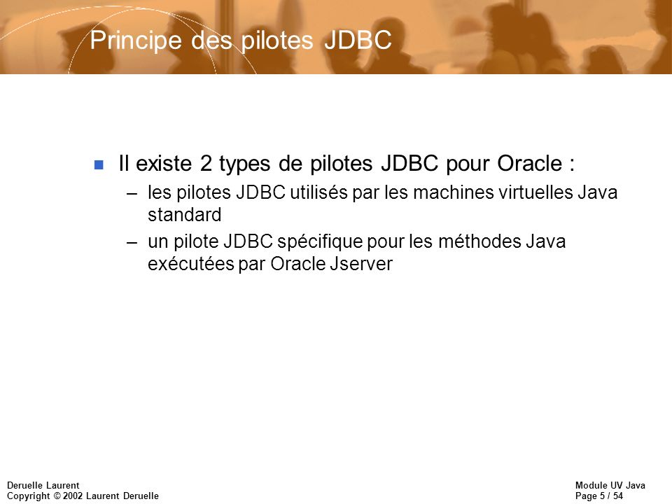 Principe des pilotes JDBC