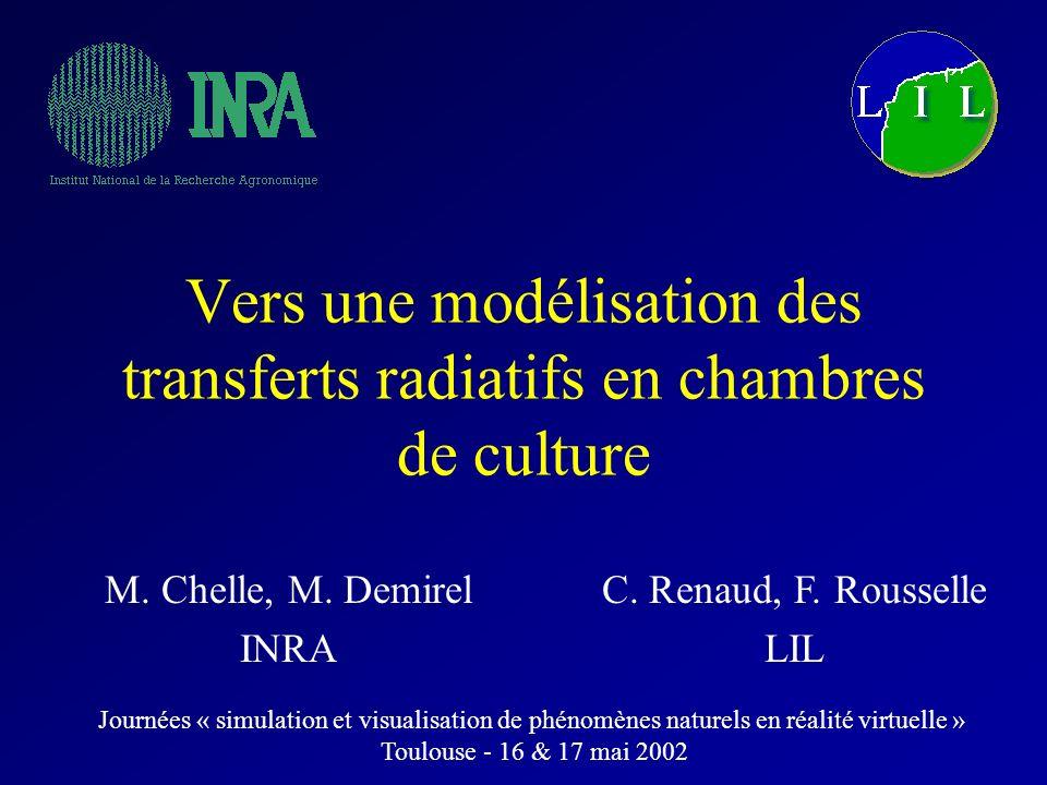 Vers une modélisation des transferts radiatifs en chambres de culture