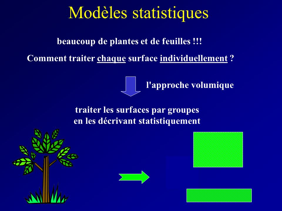 Modèles statistiques beaucoup de plantes et de feuilles !!!
