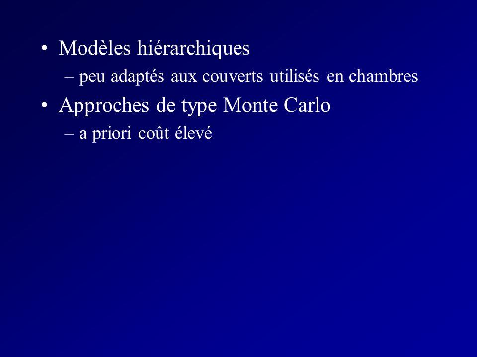 Modèles hiérarchiques Approches de type Monte Carlo