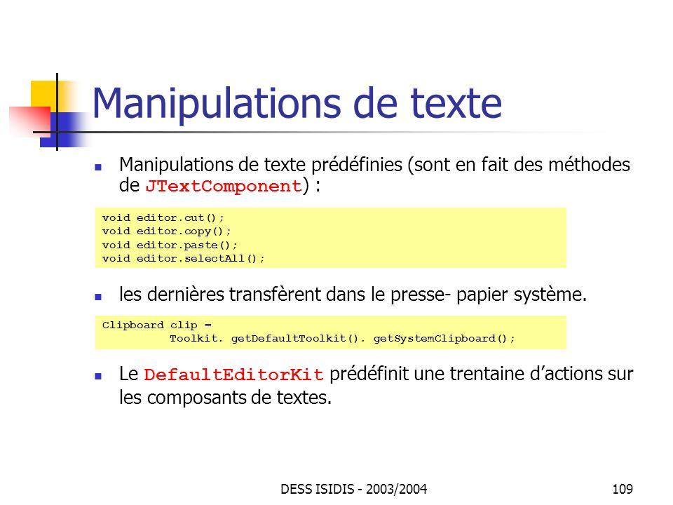 Manipulations de texte