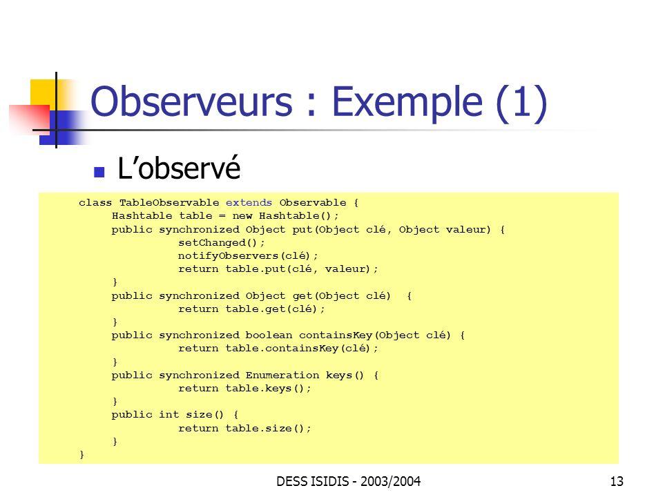 Observeurs : Exemple (1)