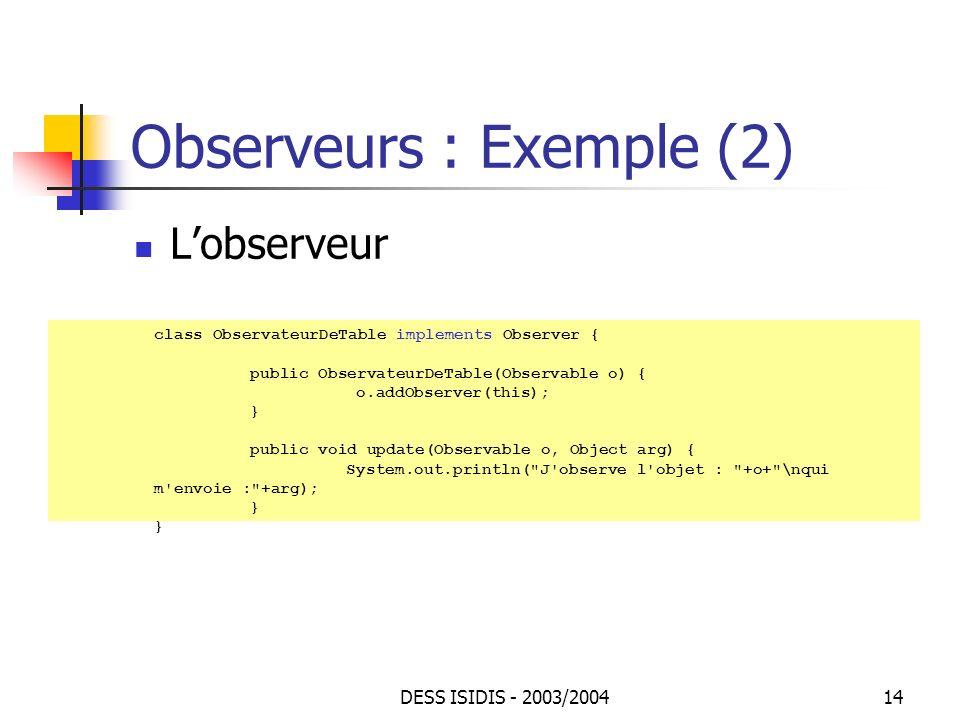 Observeurs : Exemple (2)