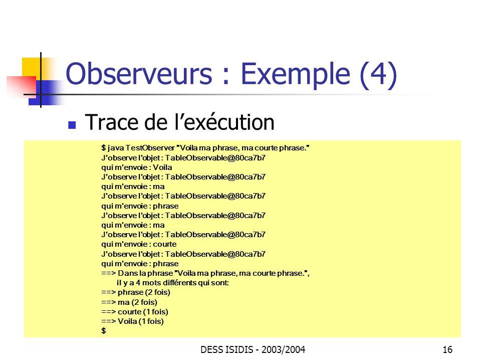 Observeurs : Exemple (4)