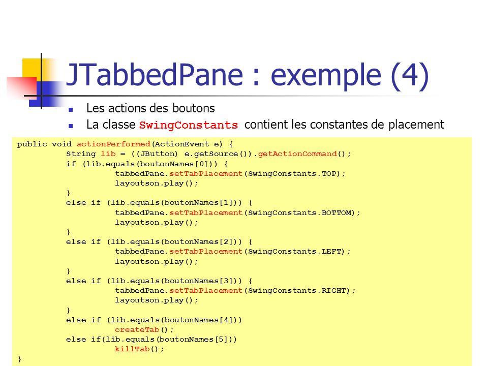 JTabbedPane : exemple (4)
