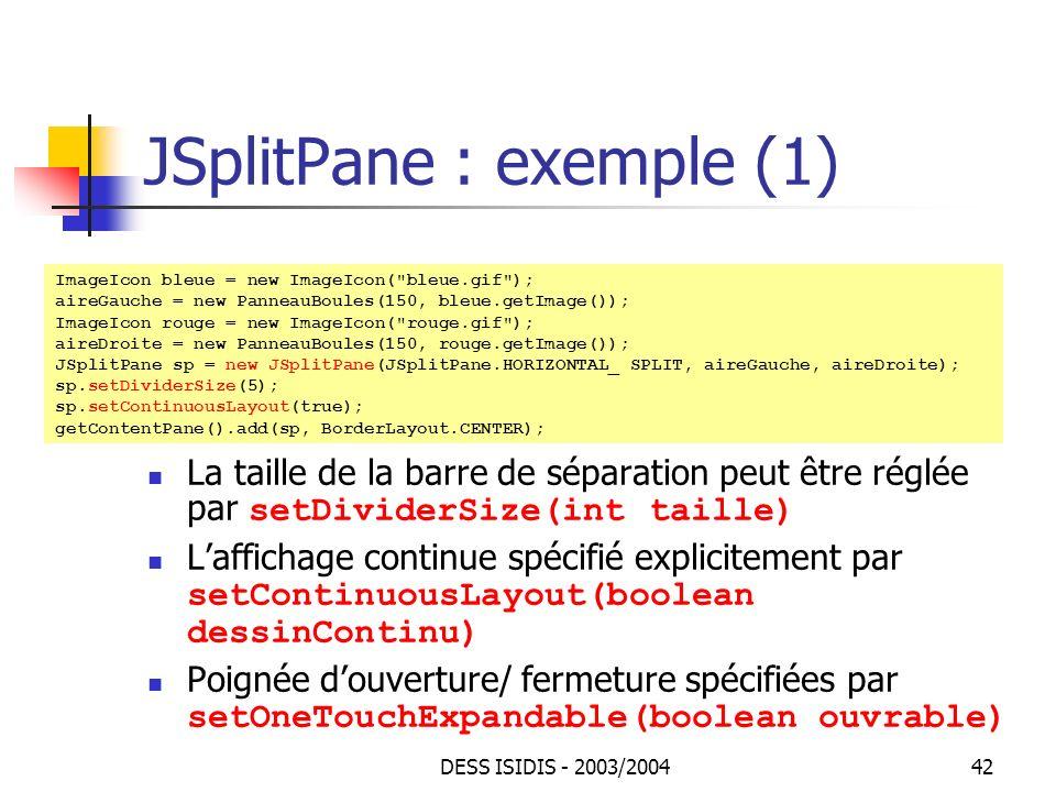 JSplitPane : exemple (1)