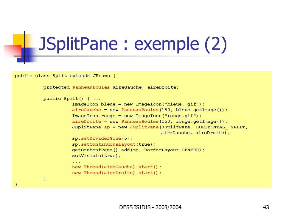 JSplitPane : exemple (2)
