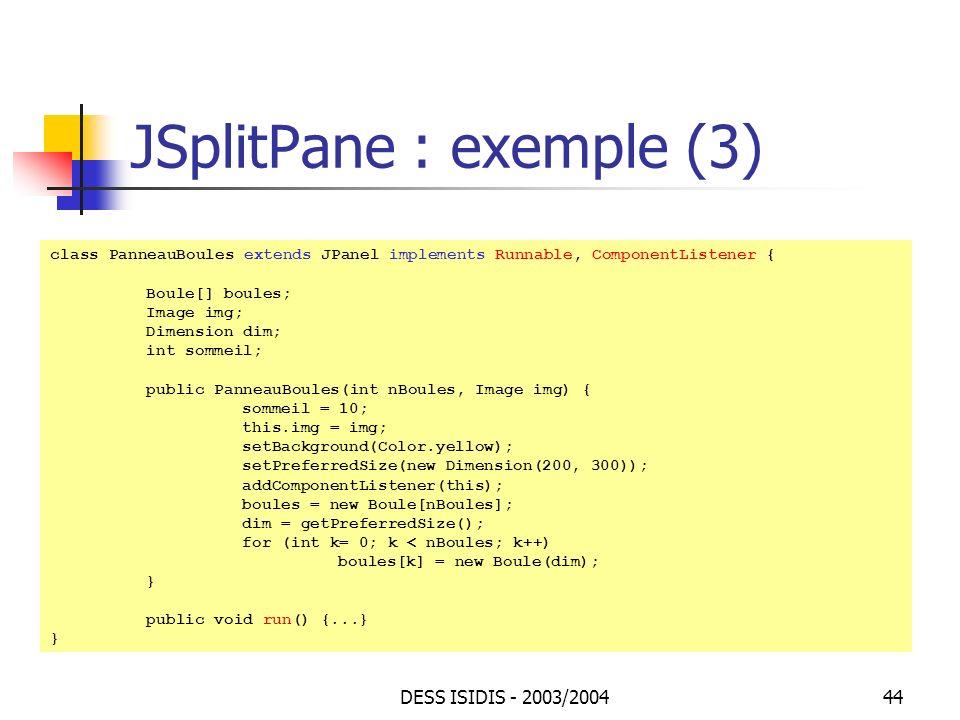 JSplitPane : exemple (3)