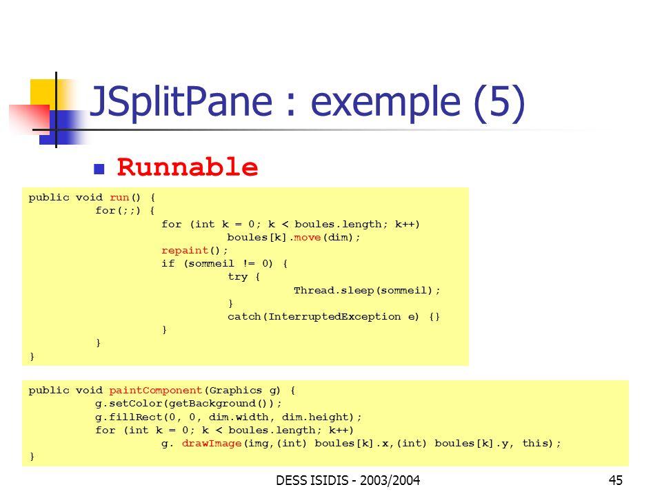 JSplitPane : exemple (5)