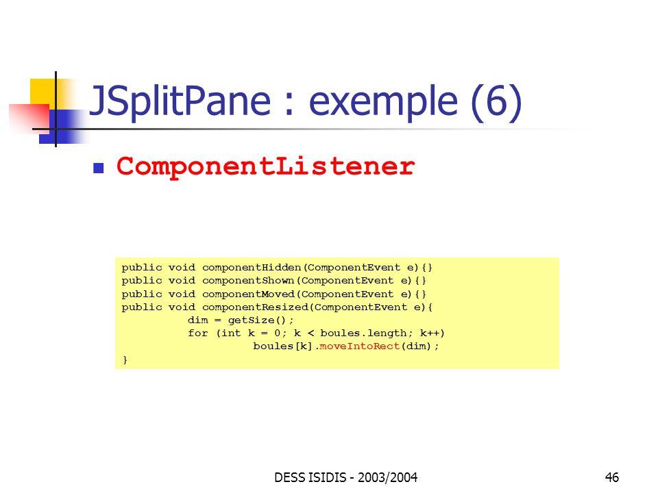 JSplitPane : exemple (6)
