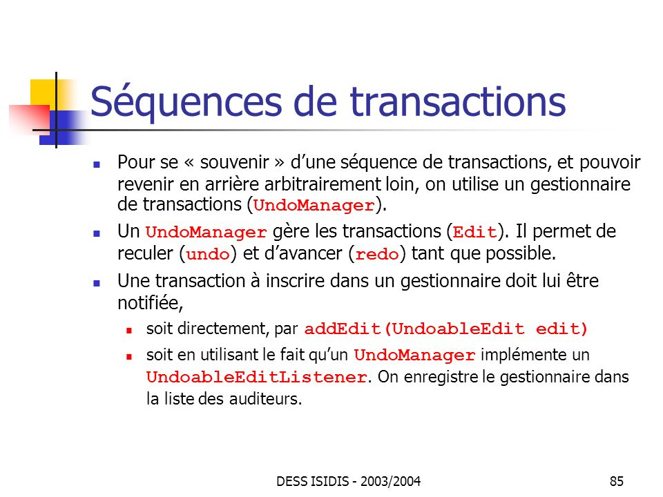 Séquences de transactions