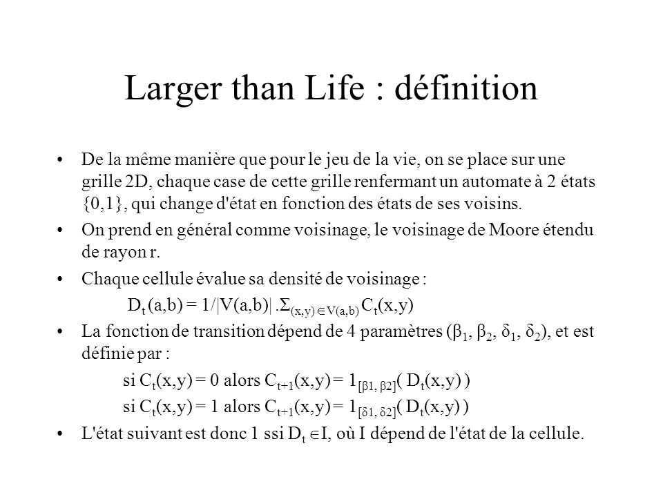 Larger than Life : définition