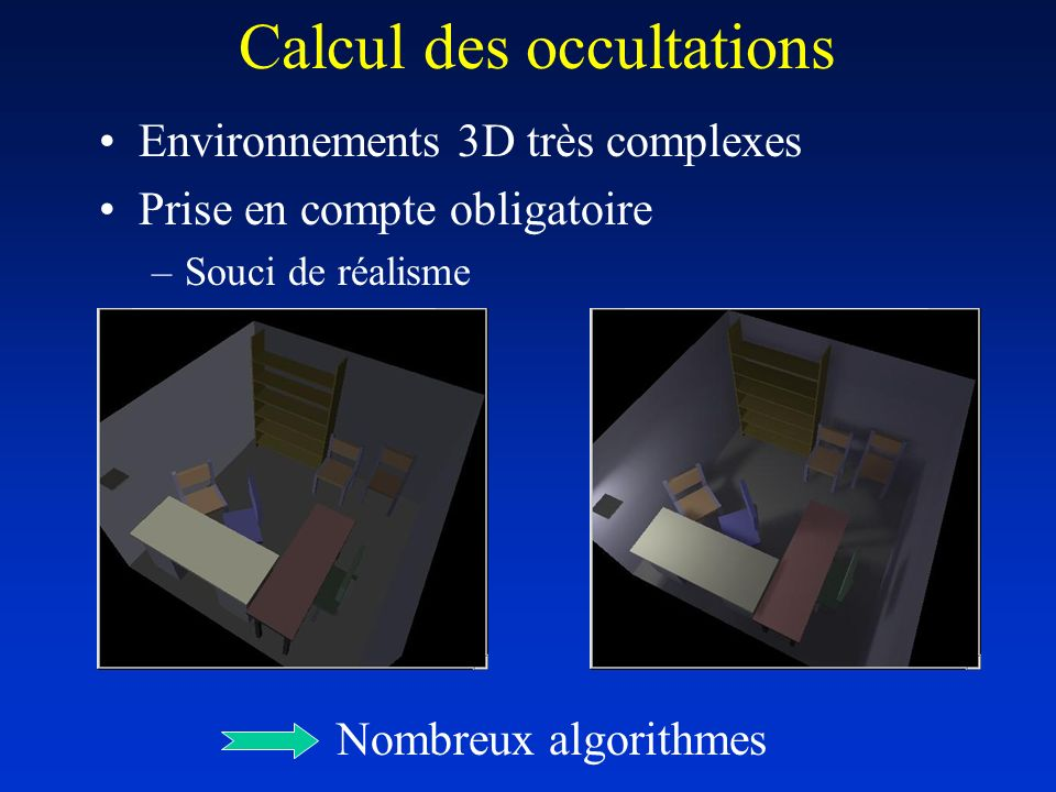 Calcul des occultations