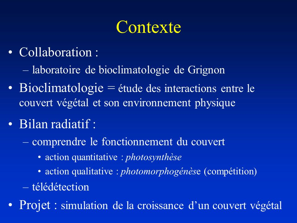 Contexte Collaboration :