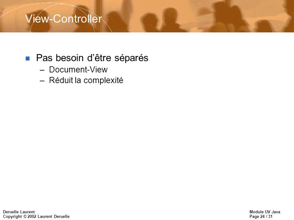 View-Controller Pas besoin d'être séparés Document-View
