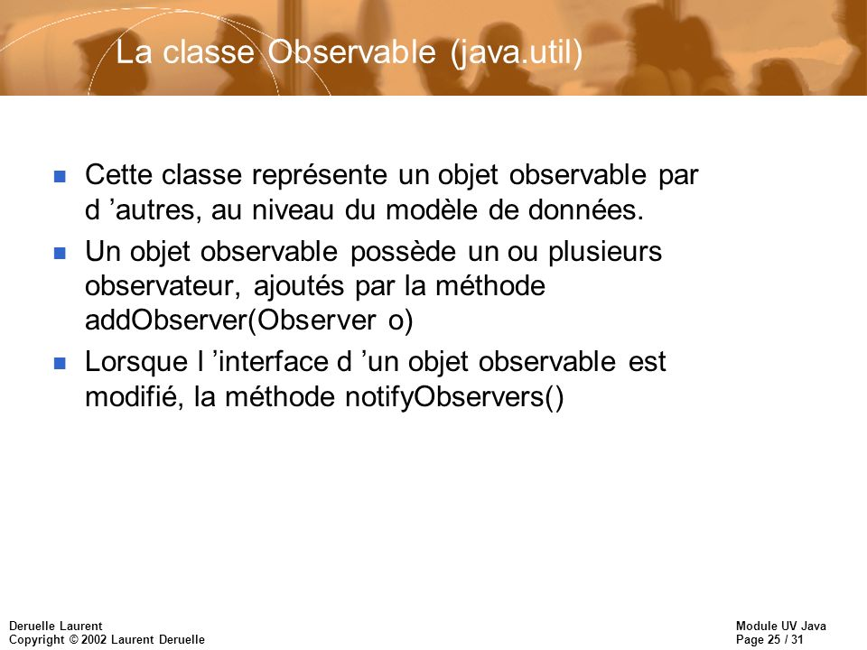 La classe Observable (java.util)