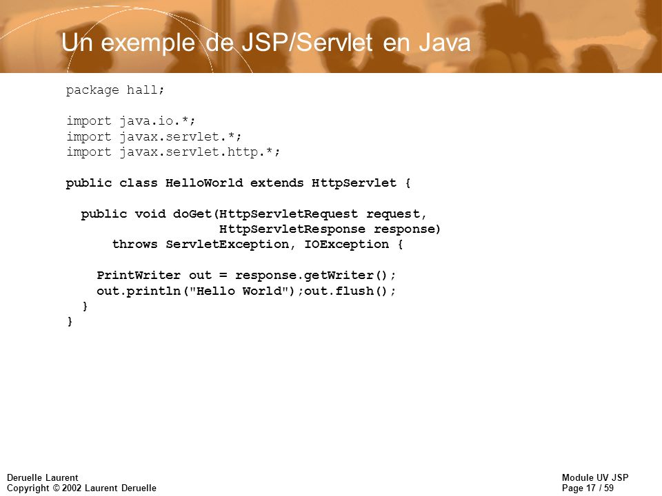 Un exemple de JSP/Servlet en Java