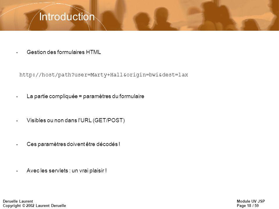 Introduction Gestion des formulaires HTML