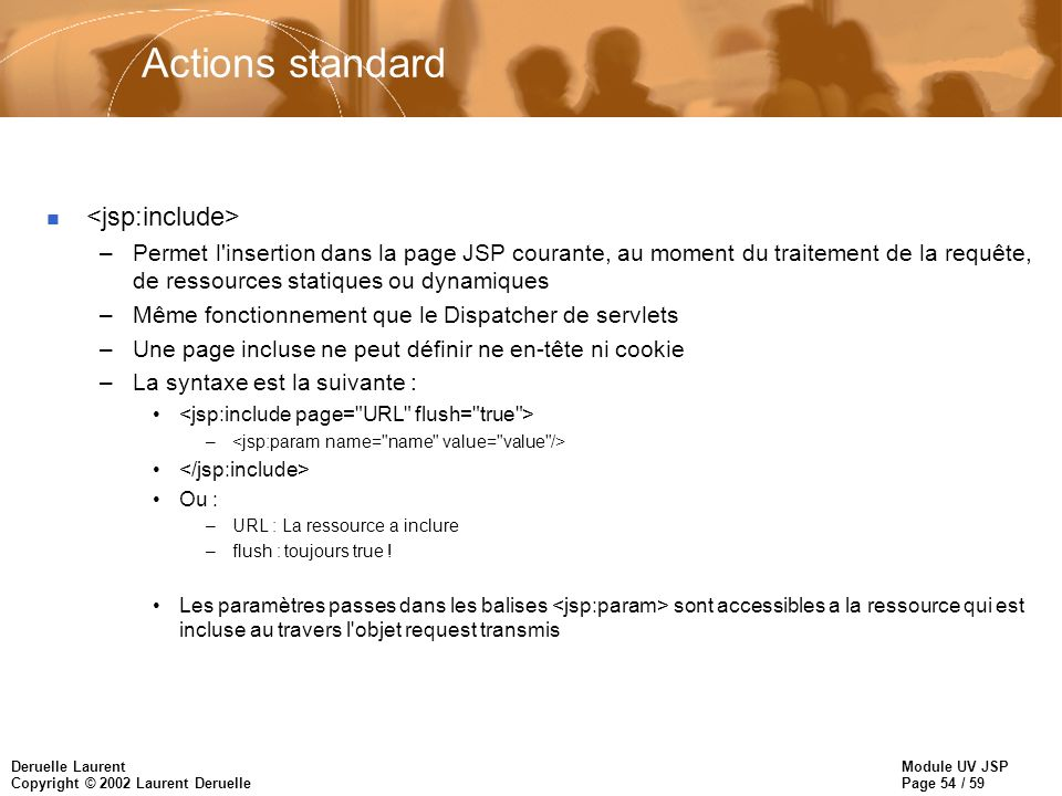 Actions standard <jsp:include>