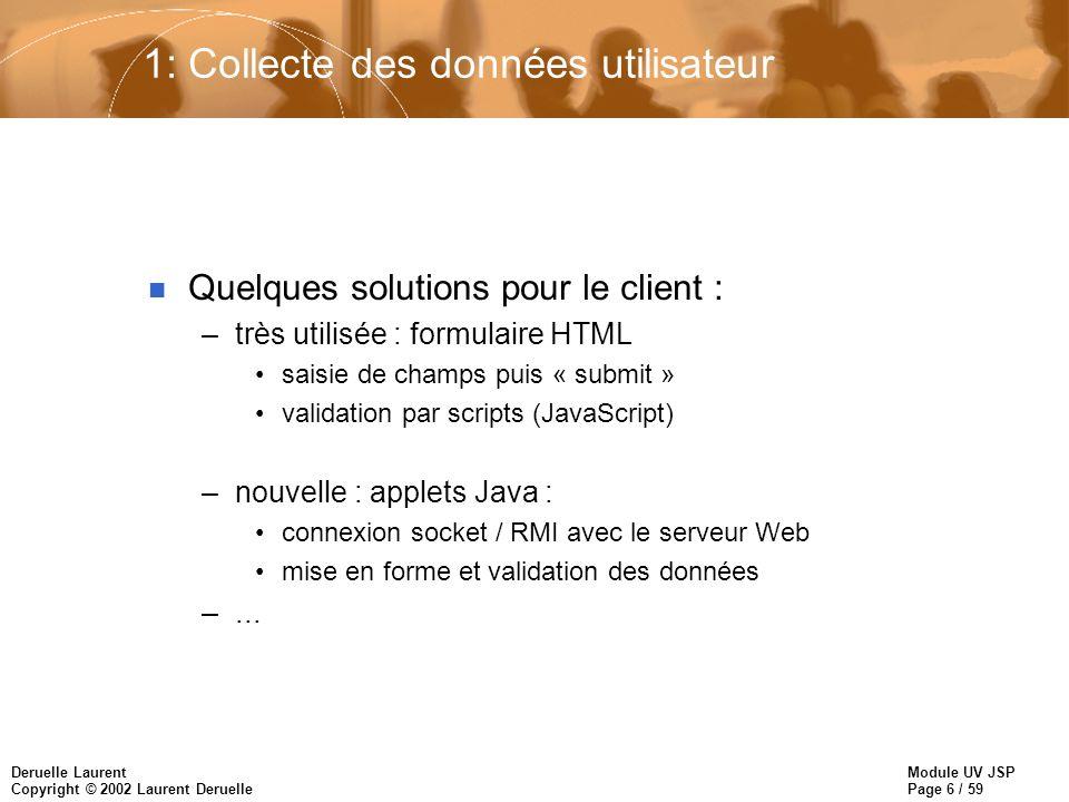 1: Collecte des données utilisateur